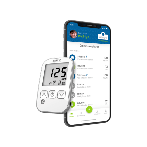 Medidor de Glicose G-Tech Lite Smart